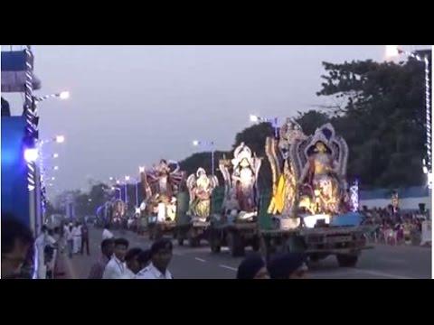 World's 1St. Grand Carnival Of Durga Puja Immersion At Red Road, Kolkata, W.B, India | Part 1 Of 5