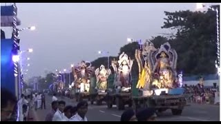 World's 1St. Grand Carnival Of Durga Puja Immersion At Red Road, Kolkata, W.B, India | Part 1 Of 5