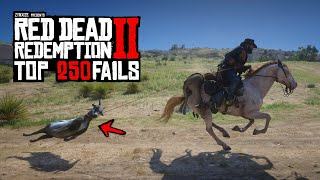 TOP 250 FUNNIEST FAILS In Red Dead Redemption 2
