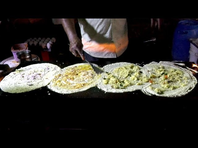 Street Food | Dosa | Night Food Street in Vijayawada | Egg Set Dosa | Amazing Street Food