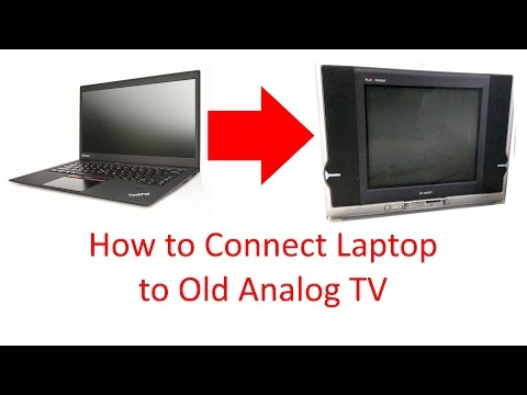 How To Connect Laptop Pc To Old Analog Tv Youtube