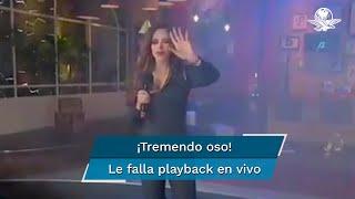 """La cantante se presentó en un programa de televisión y ella misma evidenció que no estaba interpretando en vivo la canción """"Mi México"""""""