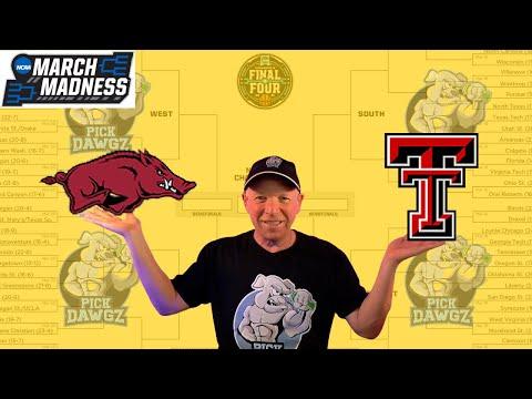 Arkansas vs Texas Tech 3/21/21 Free College Basketball Pick and Prediction NCAA Tournament