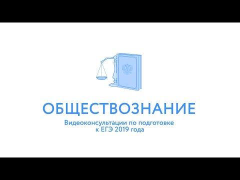 ЕГЭ-2019. Обществознание