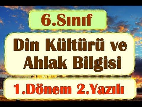6. SINIF DİN KÜLTÜRÜ ve AHLAK BİLGİSİ 1 DÖNEM 2 SINAV SORULARI