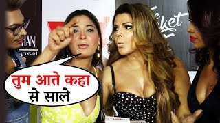 Black Heart Song Launch Rakhi Sawant Sara Khan