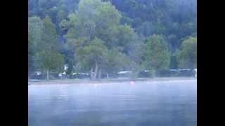E-Kajak-Fahrt auf dem Millstätter See entlang Camping Brunner 2 (morgens)
