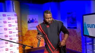 "Sout african musician ntando bangani debuting his album ""mayibuye"" live on #etvsunrise"