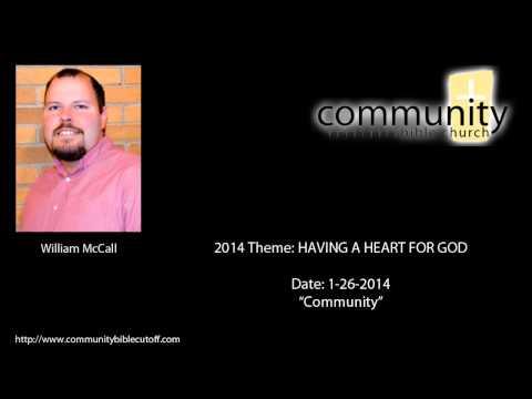 01-26-2014 CBC SERMON: Community (William McCall)