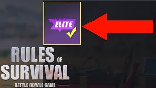 Rules of Survival - HOW TO GET ELITE MEDALLION!