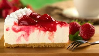 CHEESECAKE DE MORANGO SUPER FACIL