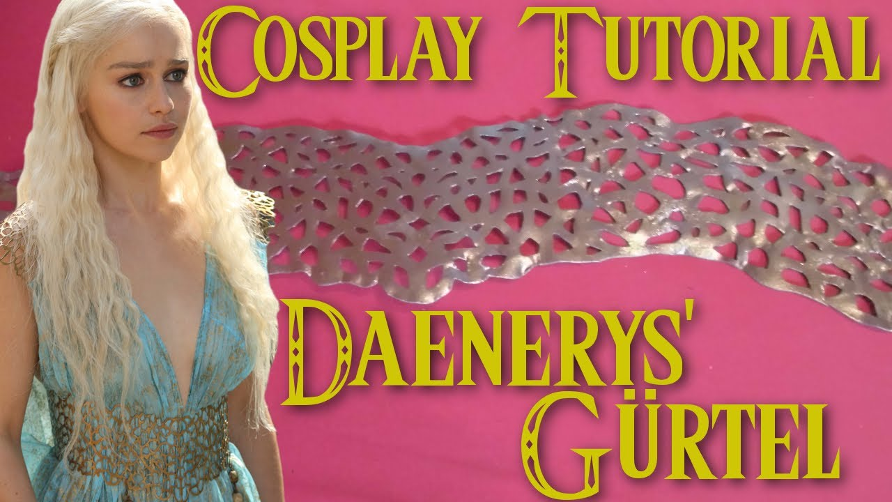 Cosplay tutorial daenerys g rtel youtube for Daenerys targaryen costume tutorial