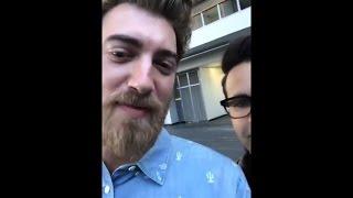 Rhett and Link at VidCon 2017 - Instagram BTS