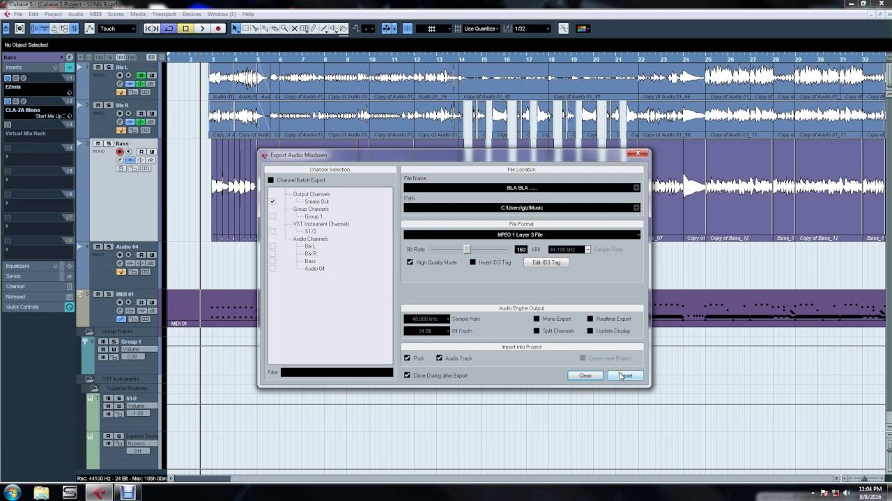 cubase 5 tutorial export your song to mp3 youtube rh youtube com Cubase Elements Cubase Le