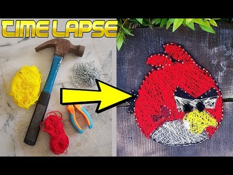 String Art Angry Bird For Beginners DIY