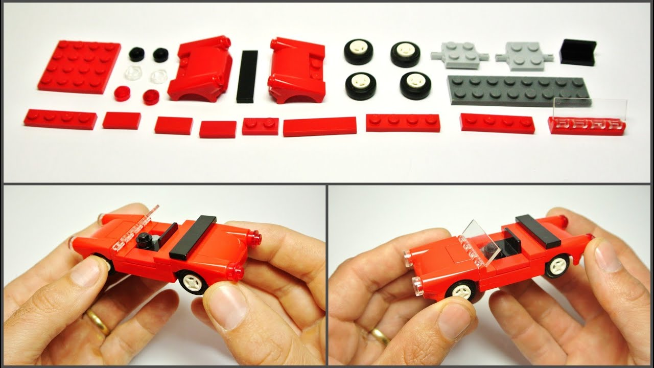 How To Build An Old Red Lego Cabriolet Youtube