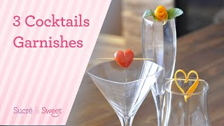 How To Make 3 Siṁple Valentine's Day Cocktail Garnishes