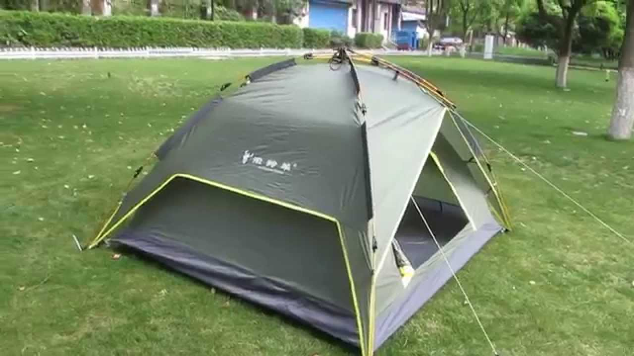 1 Persoons Pop Up Tent Waterproof Double Layers 3 Person Automatic Set Up Aluminum Poles Tent