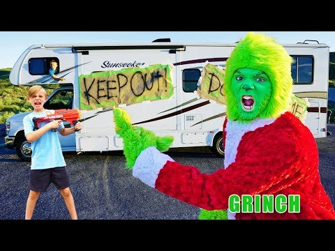 Grinch vs Fun Squad Kids In Real Life! Battle for Nerf Blasters!