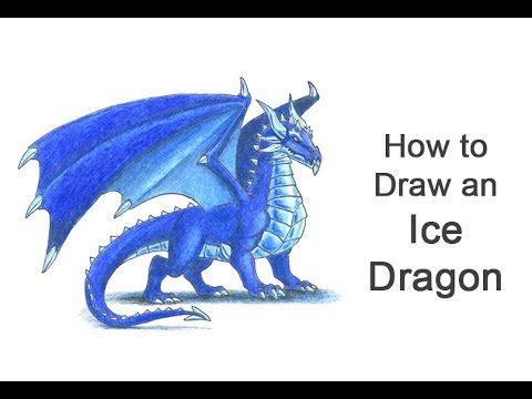 How to Draw an Ice Dragon