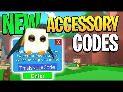 ALL 5 CODES IN NEW ACCESSORIES UPDATE IN MINING SIMULATOR