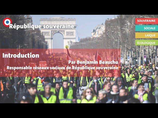 Université d'automne de République souveraine - Introduction