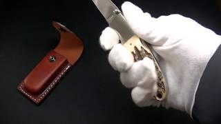 MOKI KNIFE【モキナイフ】■ ウイスカー(大)【AUS-8】【スタッグ】鹿角 MK-900A 折りたたみナイフ