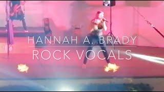 Hannah A. Brady -  rock vocals