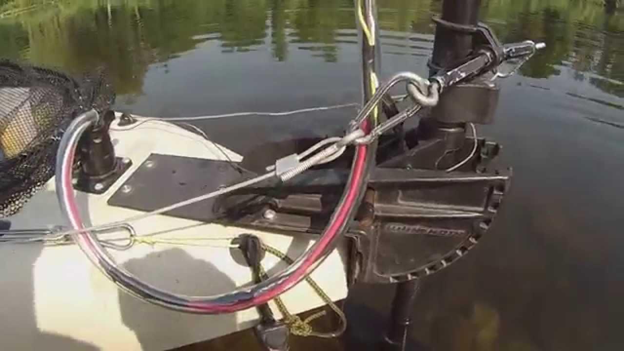 Fishing Kayak Set Up Trolling Motor Youtube