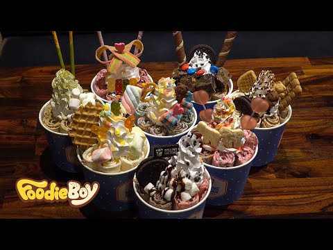 Ice Cream Roll Special / Korean Street Food / Rolling Factory, Busan Korea
