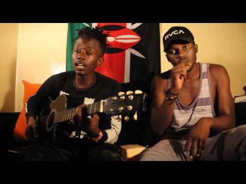 litmus Boyz on set Mishoni Mtaani Tv
