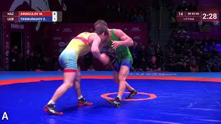 Download Video 1/2 GR - 63 kg: M. AINAGULOV (KAZ) v. E. TASMURADOV (UZB) MP3 3GP MP4