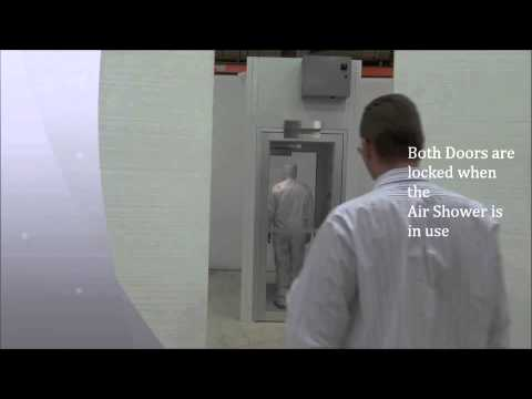 Cleanroom air shower basic operation