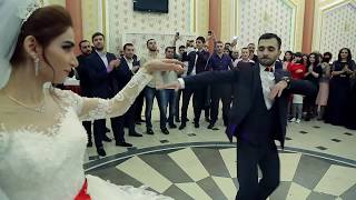 Tural & Aysel. Лезгинка.Сургут. Свадьба 02.12.17. Азербайджанская свадьба