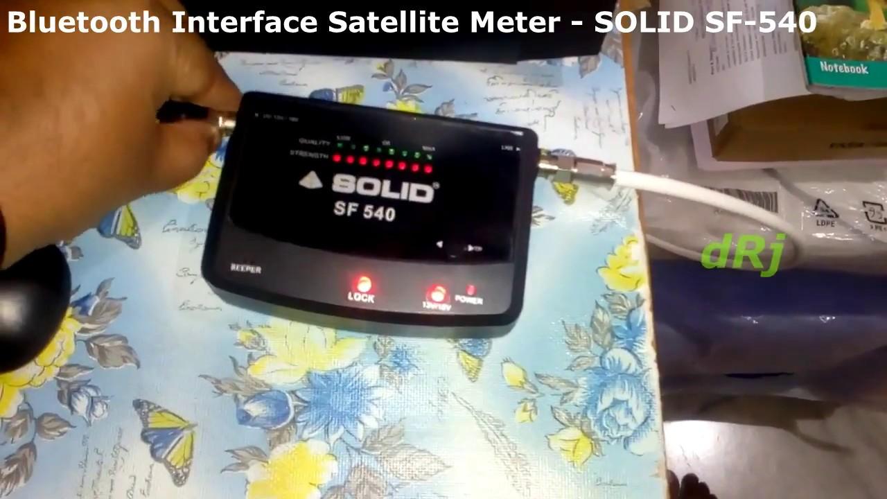 Bluetooth Interface Satellite Meter - SOLID SF-540 dRj by Dheeraj NP