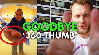 how to avoid 360 thumb big hand ricoh theta s tutorial