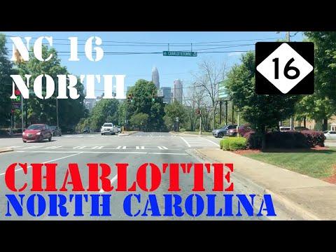 NC 16 North - Waxhaw To Mountain Island Lake Charlotte - North Carolina - Highway Drive