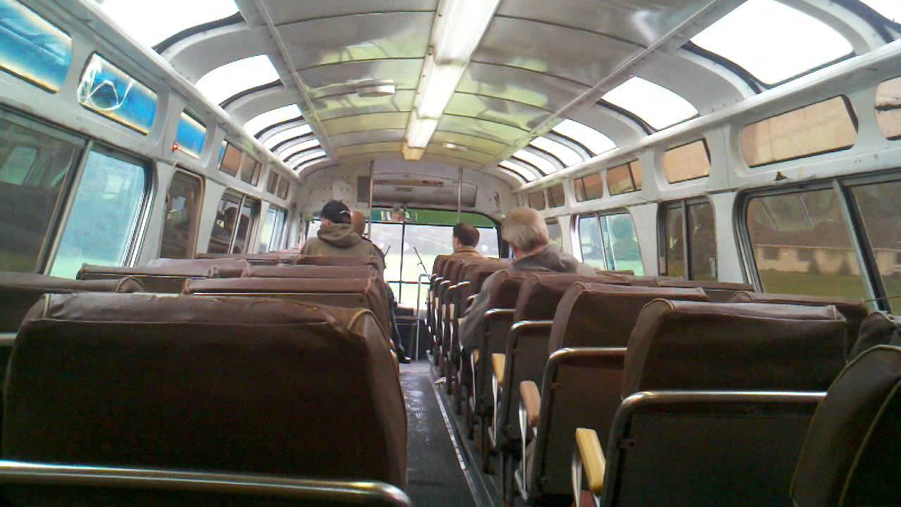 a ride on a new york worlds fair fishbowl bus