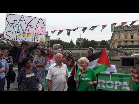 Gaza-plage : interventions au micro