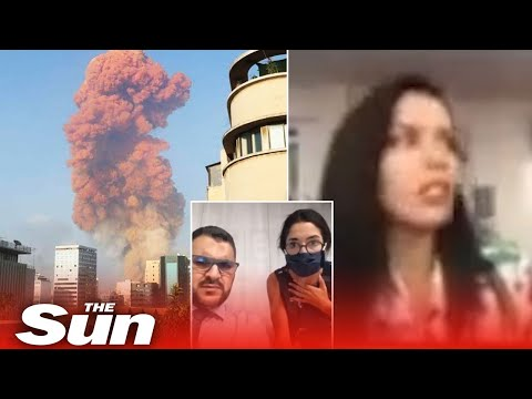 BBC journalist sent flying live on air by Beirut explosion