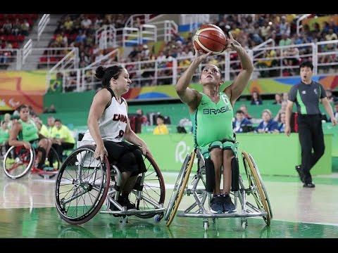 Wheelchair Basketball | Canada vs Brazil | Women's preliminaries | Rio 2016 Paralympic Games