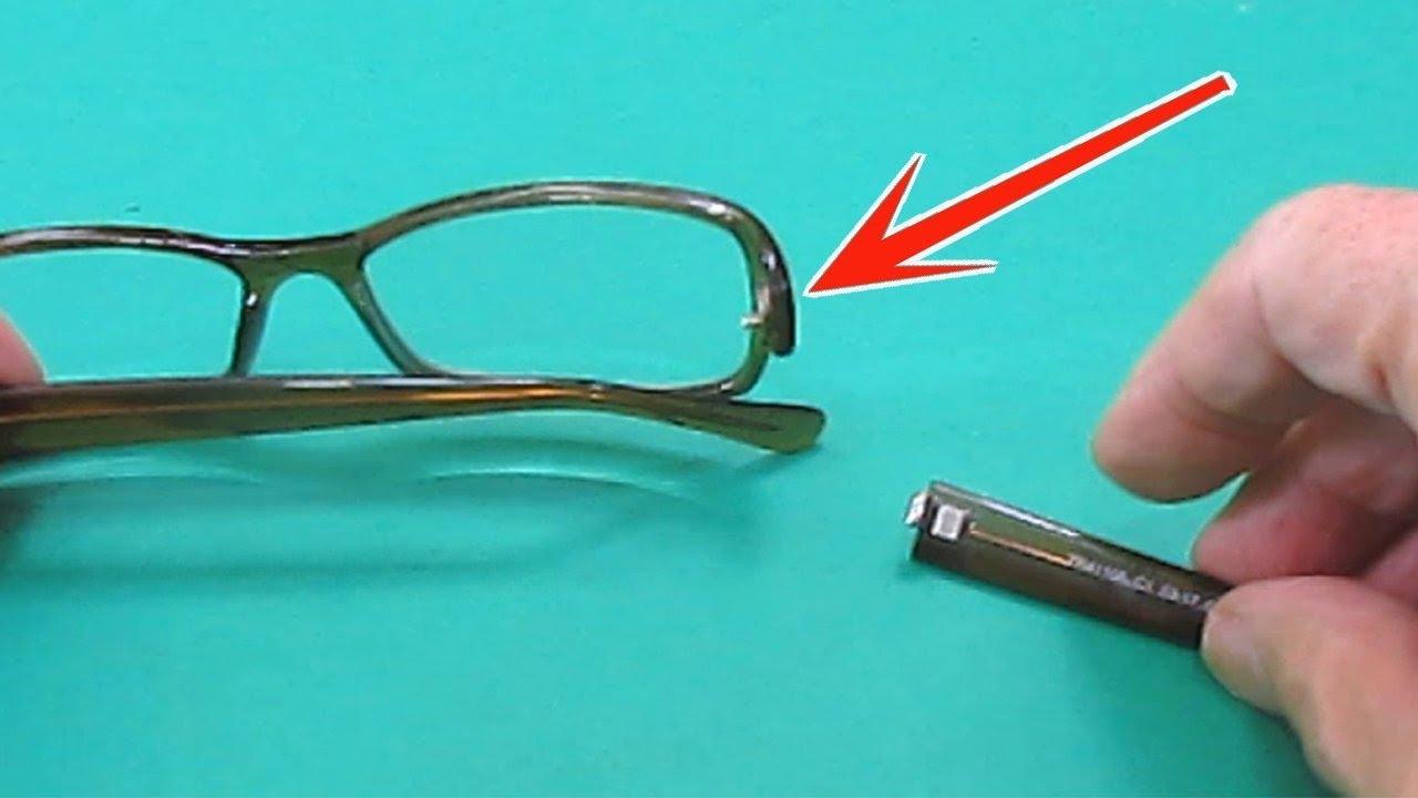 3a56227bd6 Arreglar bisagra de patillas de gafas - YouTube
