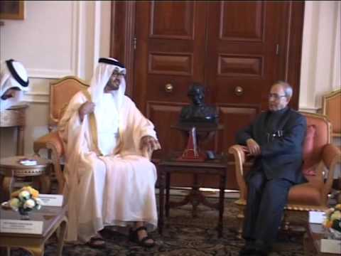 Abu Dhabi Crown Prince calls on Indian President in Delhi