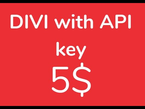 How to Get Divi Theme with API key for lifetime updates just for 5$
