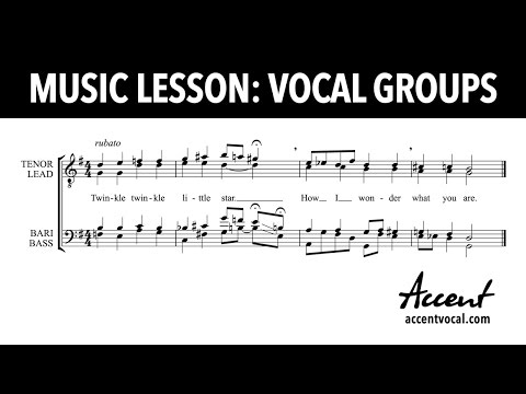 Vocal Group History and Styles (by Accent)