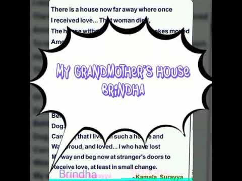 my grandmothers house by kamala das summary