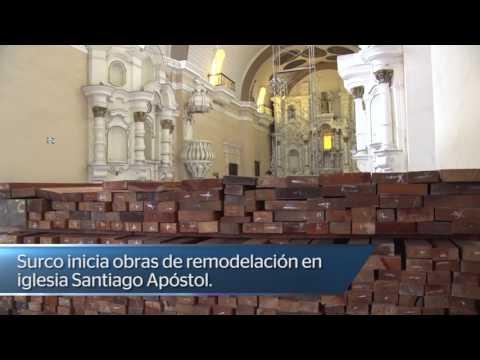 Surco inicia obras de remodelación en Iglesia Santiago Apostol