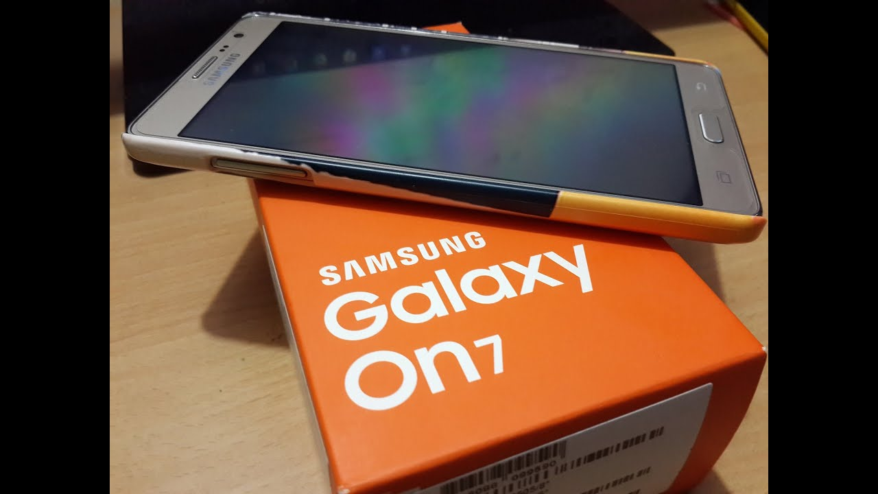 Samsung Galaxy On7 Gold Unboxing Youtube