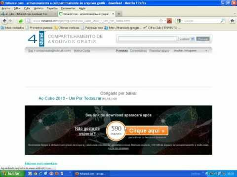Baixando MP3 no site 4shared.avi