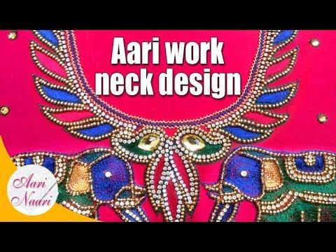 4d475502564dd aari work neck design